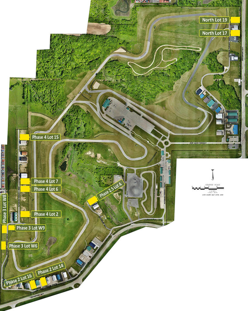 Autobahn Country Club Lots and Race Track Aerial View