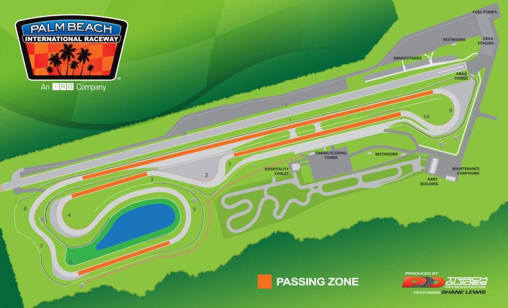 Palm Beach Raceway Road Map