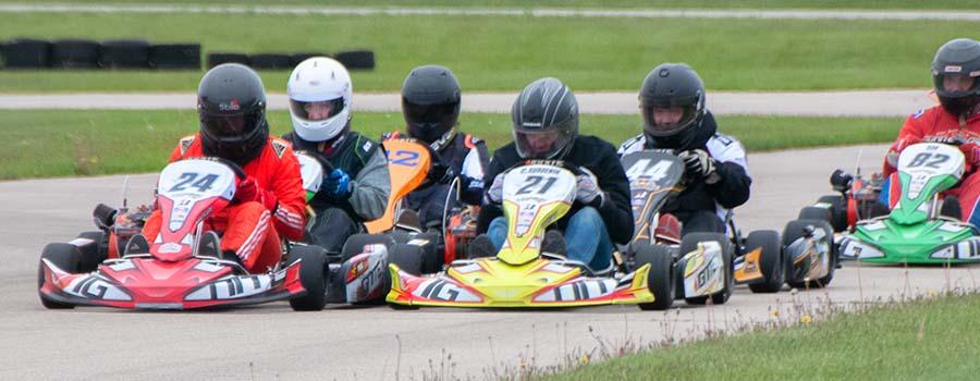 Race Car Kids Karting on Track
