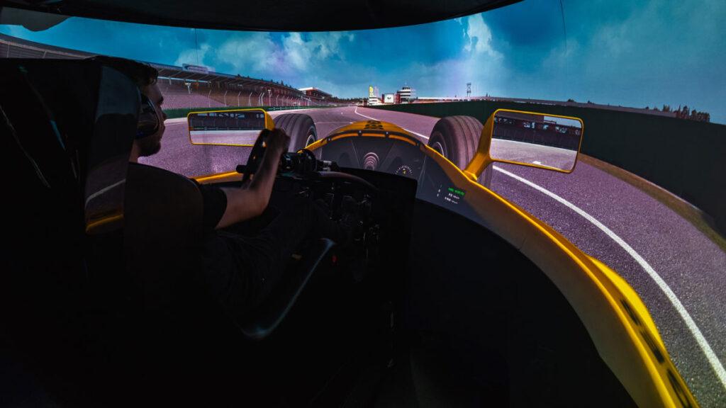 Picture inside racing simulator