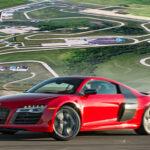 Ferrari Race Car On Racetrack