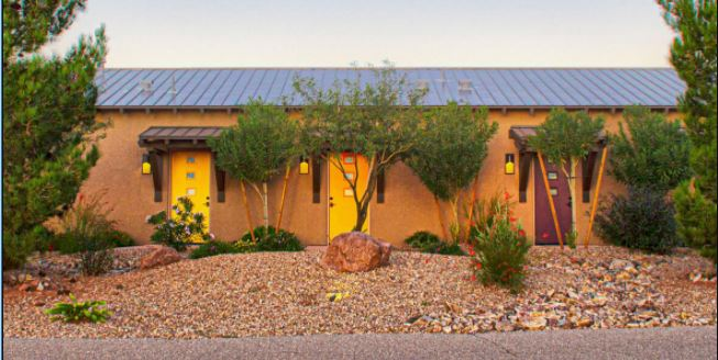 12 Private casitas rooms from the outside