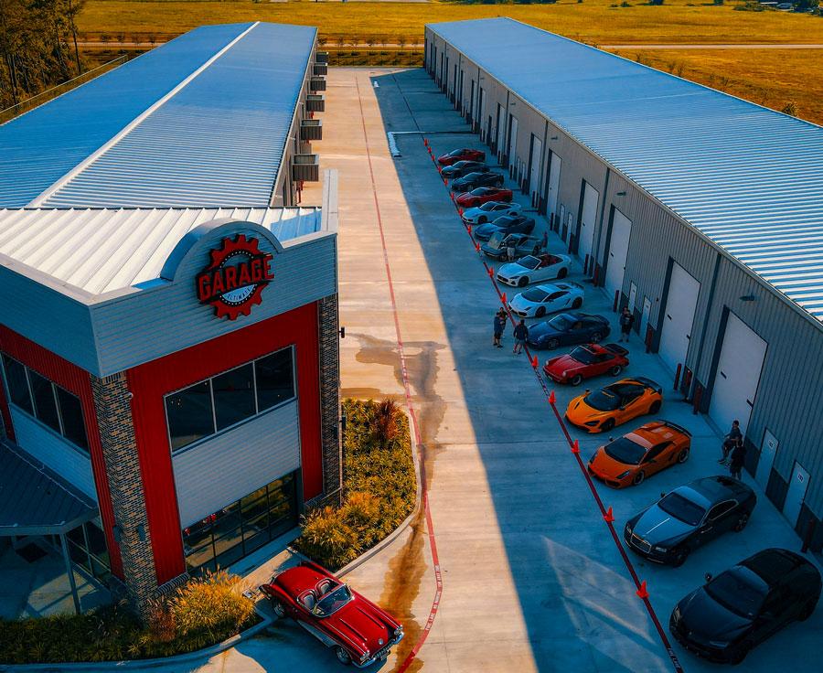 Aerial View Of Garage Storage Units