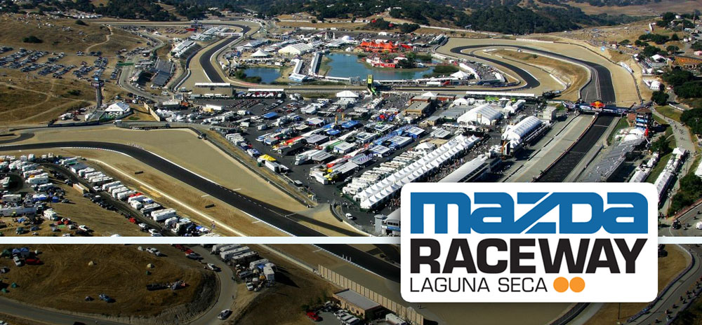 Aerial view of Mazda Raceway