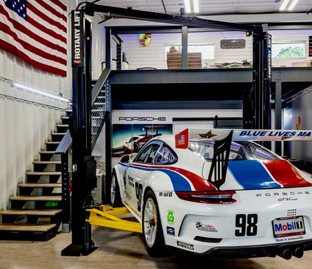 Porsche Vehicle in Custom Garage