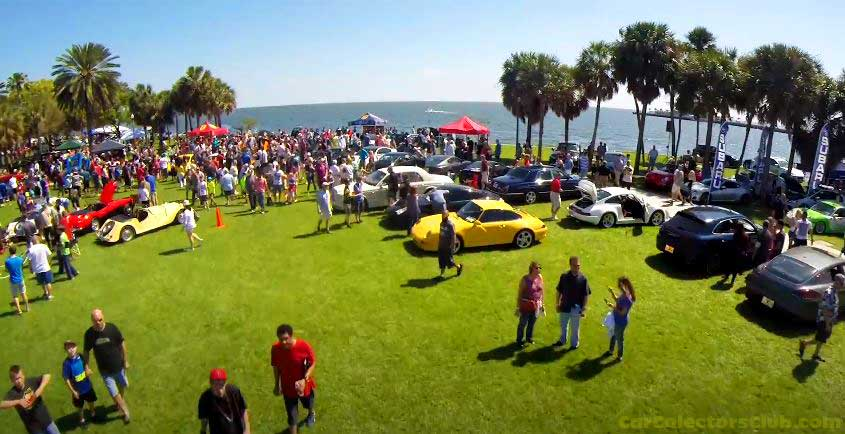 Festivals of Speed St Pete Car Show Aerial view