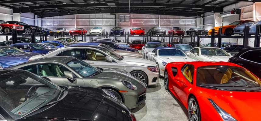 Palm Beach Garage and Storage Car Club Inside