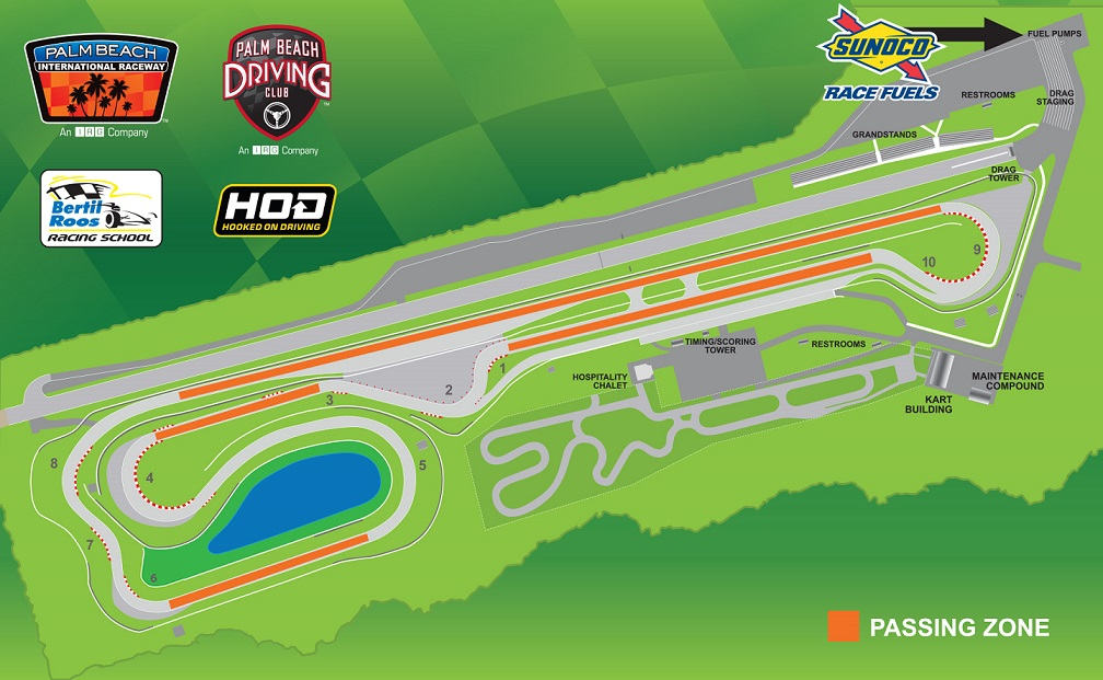Palm Beach International Raceway Speedway Track