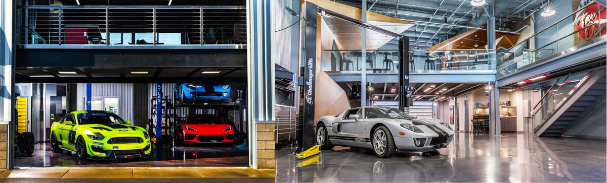 Outside view of luxury car storage