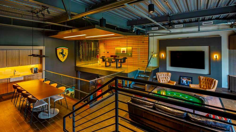 Luxury Garage with Mezzanine