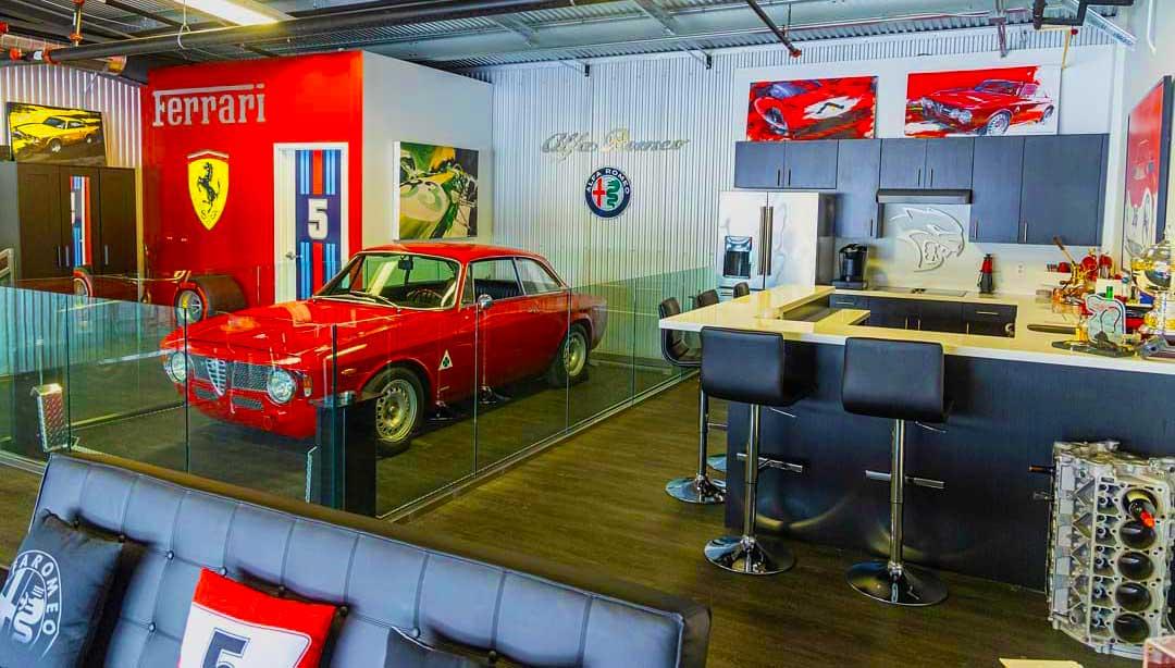 Custom designed private garage car condo