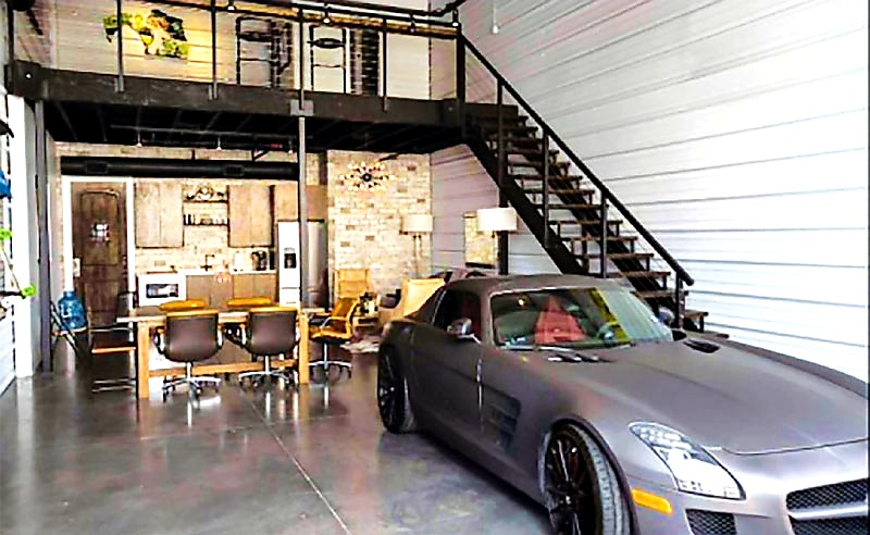 Inside a garage Storage Unit