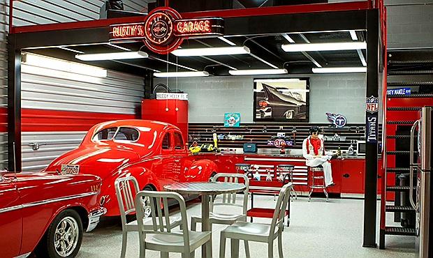 Scottsdale Toy Barn car garage inside