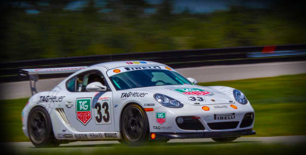 car racing on track