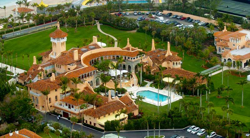 Mar-a-Lago is a resort aerial view
