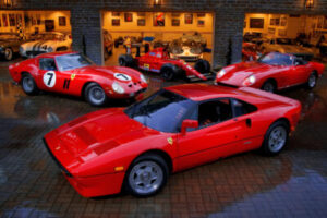 Ferrari cars at the Friday Fundraiser Party