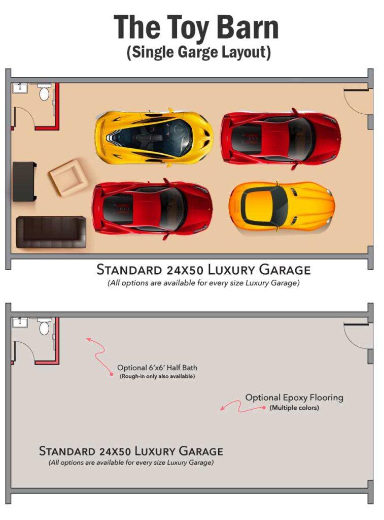 Inside a 24′ X 50′ Customizable Car Garage
