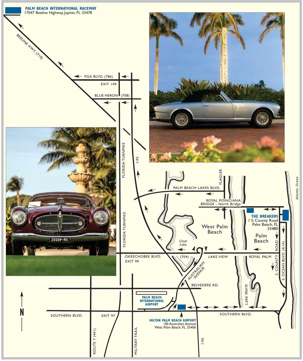 Map of Palm Beach Florida