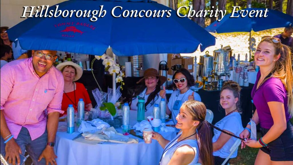 Lunch at the Concours d'Elegance Beneficiary charity event