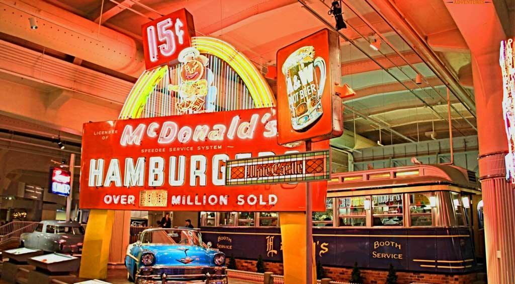 replica diner , white castles and Mc Donalds