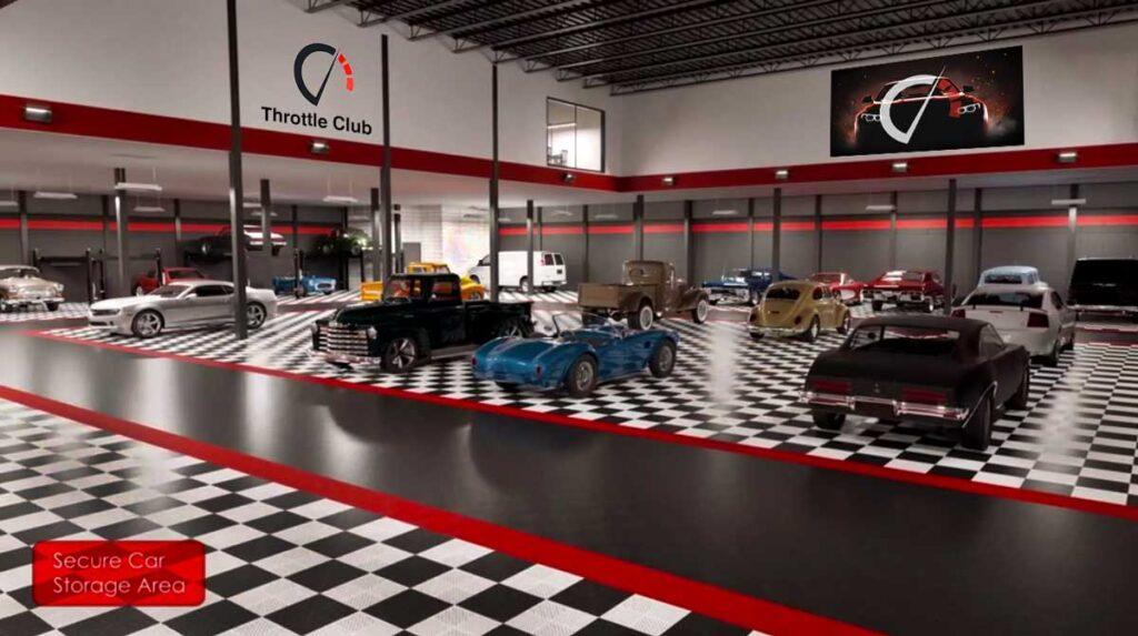 private garage car storage