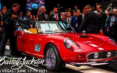 Barrett-Jackson Celebrity Auto Auction In Las Vegas Jun. 17-19, 2021