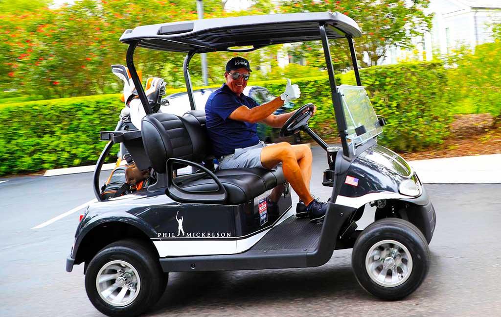 Phil Mickelson EV golf Car cart