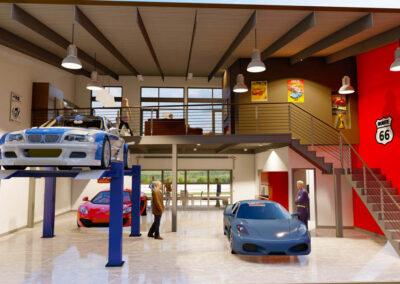 Iron Gate Car Garage Interior Design Ideas