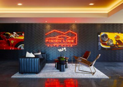 The Finishing Line Auto Club Members Club House and Lobby