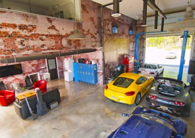 A Rustic Designed Working Garage
