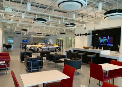 """Inside The Members Lounge At A Delray Beach Hagerty """"Garage + Social"""" Car Club"""