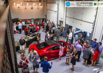 A Private Car Club Community Event With Car Club Neighbors, Friends, and Family At The Iron Gate Motor Condo Complex