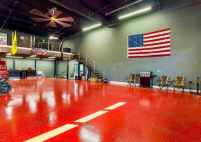 Basketball court in Island Storage Suites Car Condo Garage
