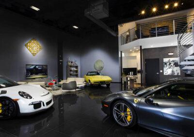 Inside a custom designd a Collection Suites Car Garge