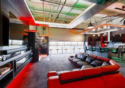 Inside a custom designed a M1 Concourse car condo