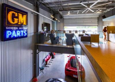 Inside a custom design car condo