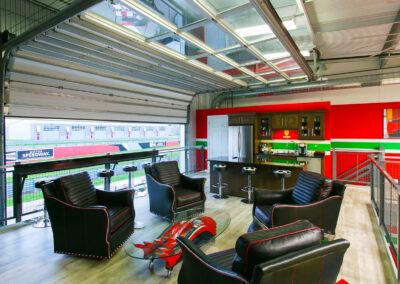 Inside a M1 Concourse Car Condo Garage