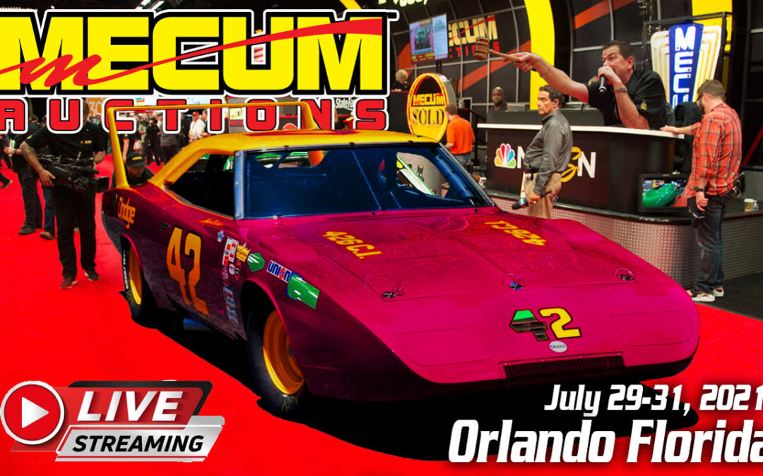 Watch Mecum Auction +1000 Vehicles From Orlando Florida on July 29-31 (Plus Streaming Live)