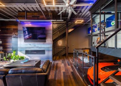 The Motor Enclave Car Club Ultimate Mancave With Second Floor Car Storage