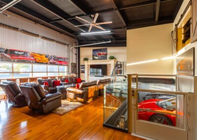 The Motor Enclave Car Condo With Trackside View From Mezzanine