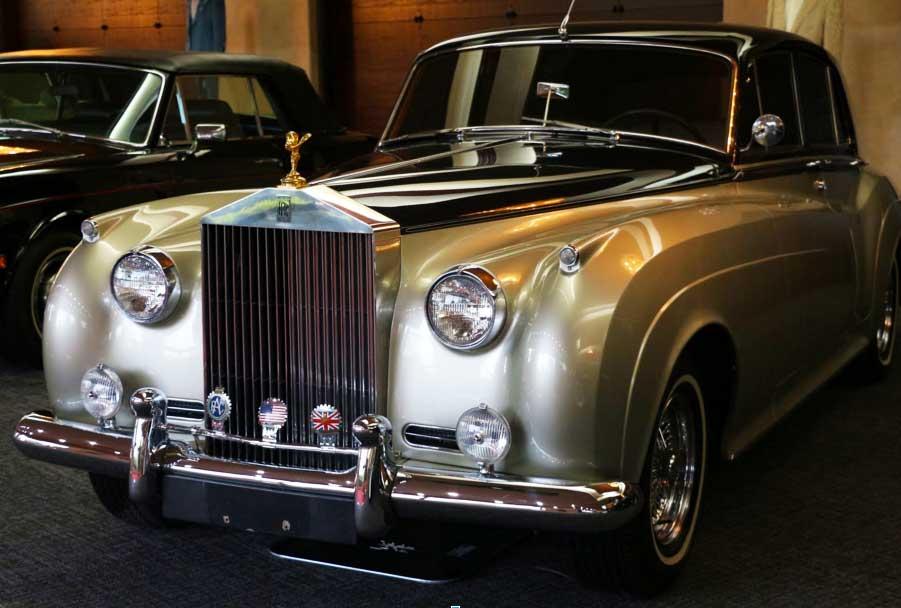 Silver 1959 Rolls Royce
