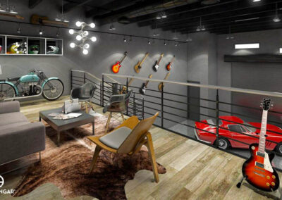 Mezzanine View of Musicians Guitar Collection