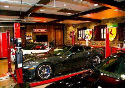 Custom Garages Ferrari Themed