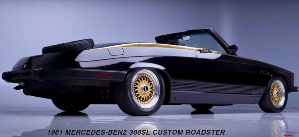 Black 1981 Mercedes-Benz 380SL