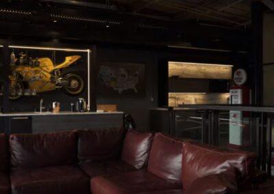 M1 Concourse Car Club Custom Living Room