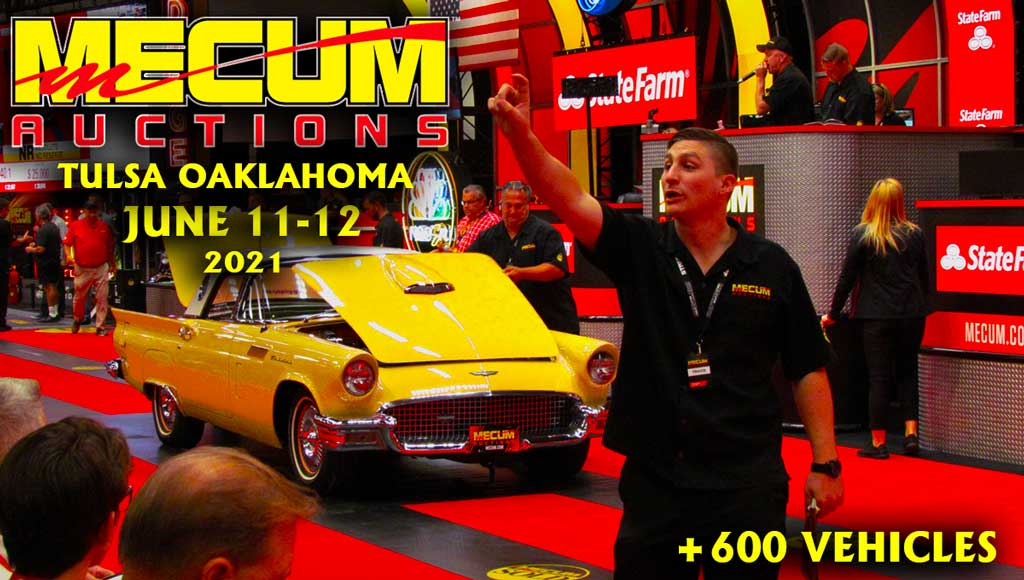 Mecum Auctioning Over 600 Cars & Motorcycles In Tulsa Oklahoma June 11-12, 2021