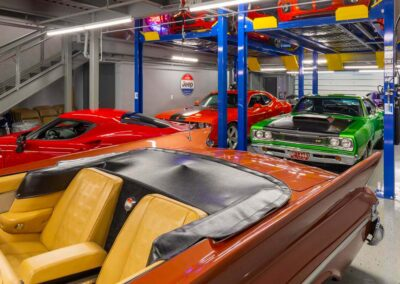 The Motor Enclave First Floor With Custom Car Storage and Car Lifts