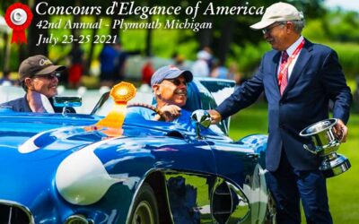 Concours d'Elegance of America Celebrates 42 Annual at St. Johns Inn in Plymouth Michigan on July 23-25, 2021