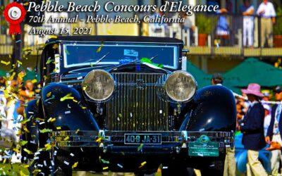 Pebble Beach Concours d'Elegance August 15, 2021