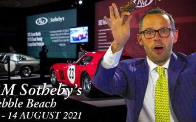 RM Sotheby's Auction at Pebble Beach August 12-14 2021